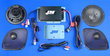 J&M Audio Performance 2 Speaker and 200 Watt Amplifier Kit for 2015 and Newer Harley-Davidson Road Glide models