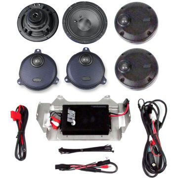 J&M Audio 4 Speaker and 400 Watt Amplifier Kit for 2014 and Newer Harley Davidson Ultra and Limited models