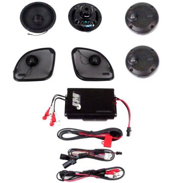 J&M Audio 4 Speaker and 400 Watt Amplifier Kit for 2016 and Newer Harley-Davidson Road Glide Ultra models