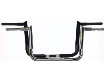 Wild 1 WO592C Hooked Chubby Bagger 12 inch Chrome Ape Hangers for Harley Davidson Touring Motorcycles