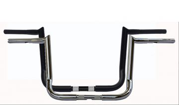 Wild 1 WO594C Hooked Chubby Bagger 14 inch Chrome Ape Hangers for Harley Davidson Touring Motorcycles