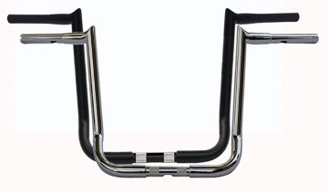 Wild 1 WO596C Hooked Chubby Bagger 16 inch Chrome Ape Hangers for Harley Davidson Touring Motorcycles