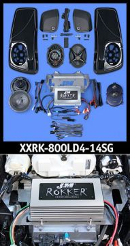 J&M Audio XXR Extreme 4 Speaker 800 Watt Amp and Lid Kit for 2014 and newer Harley Street Glide models