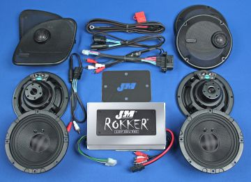 J&M Audio XXR STAGE 5 Extreme 4 Speaker 800 Watt Amp Kit for 2015 and newer Harley Road Glide Ultra CVO models