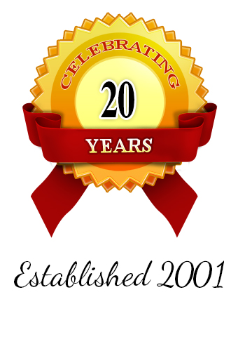 Established 2001 Celebrating 20 Years